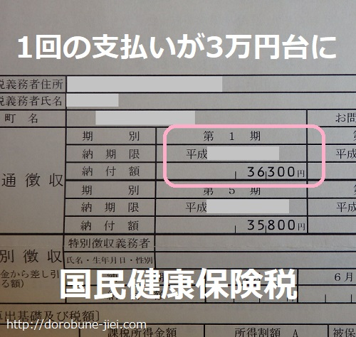 国保料3万円台
