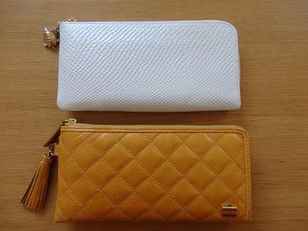 キャメル財布