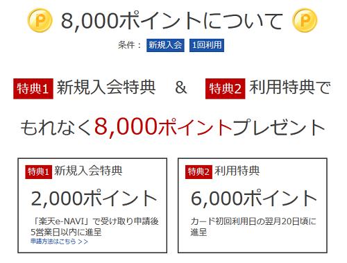 8000Pプレゼント