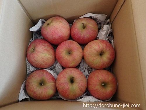 サンふじリンゴ箱の中