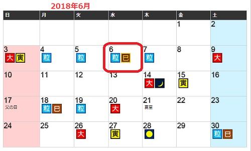 2018年6月開運日