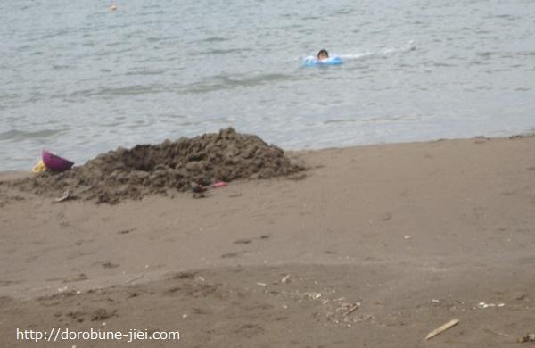 家族旅行海水浴